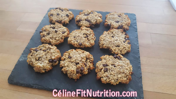 Cookies healthy banane flocons d'avoine