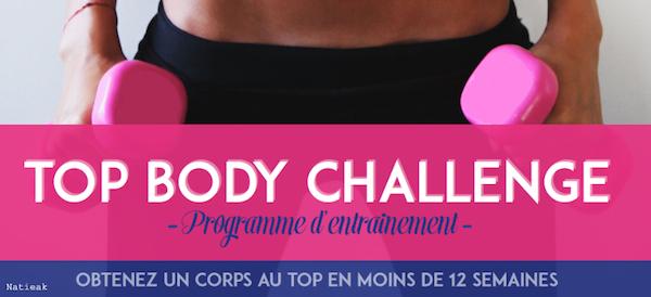 Zoom sur le Top Body Challenge de Sonia Tlev