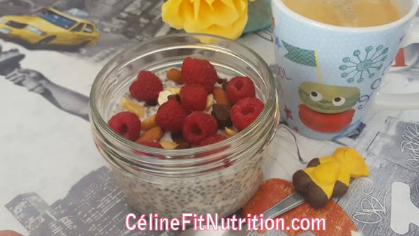 Pudding aux graines de chia et avoine