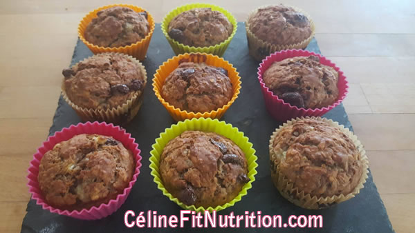 Muffins banane chocolat healthy
