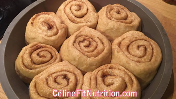Cinnamon rolls healthy (brioche roulée à la cannelle)