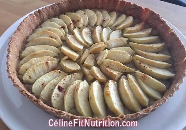 Tarte aux pommes légère et healthy