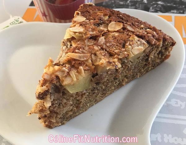 Gâteau pommes muesli sans matière grasse