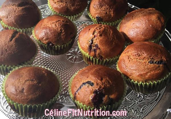 Muffins healthy aux myrtilles
