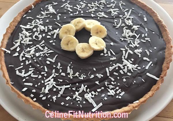 Tarte banane chocolat healthy et vegan