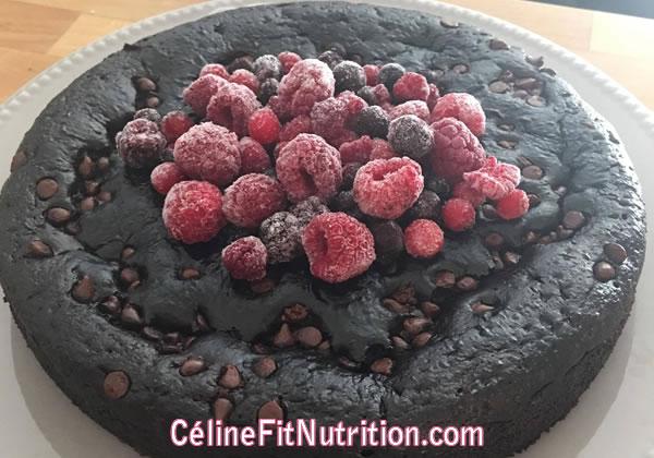 Gâteau au chocolat healthy (sans matière grasse et sans sucre ajouté)