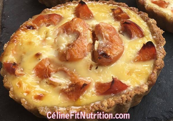 Tartelettes aux abricots healthy (pâte aux flocons d'avoine)