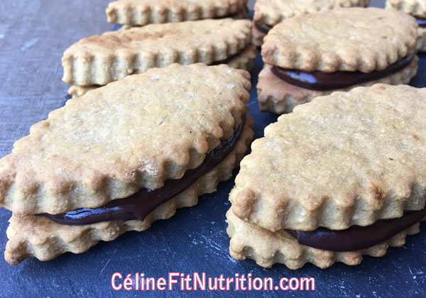 Biscuits fourrés au chocolat façon Princes vegan