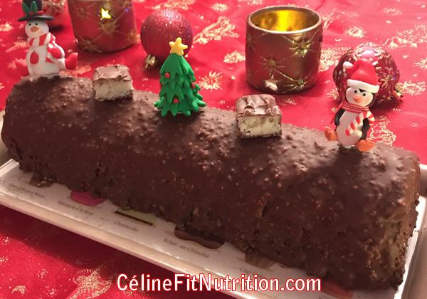 Bûche de Noël chocolat noix de coco façon Bounty