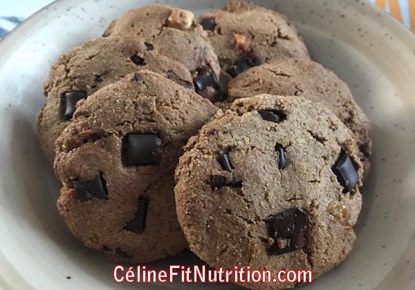 Cookies au beurre de cacahuètes et pépites de 2 chocolats (sans beurre)