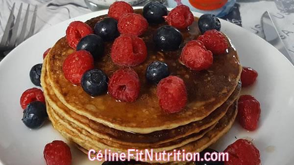 Pancakes banane avoine sans lactose