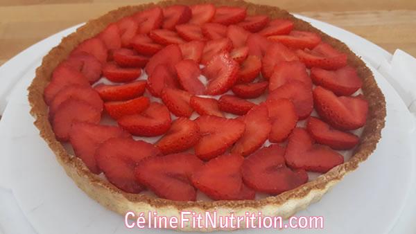 Tarte aux fraises healthy