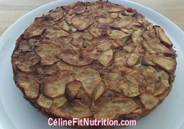 Gâteau invisible aux pommes healthy