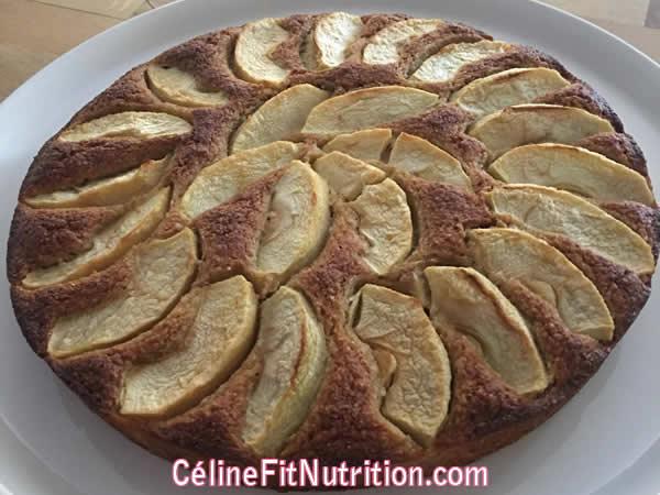 Gâteau aux pommes healthy et léger