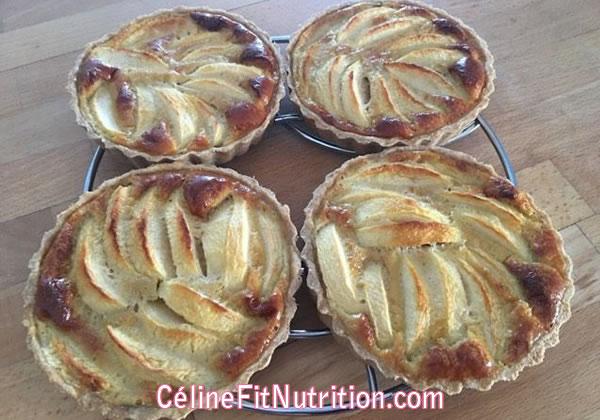 Tartelettes aux pommes normandes healthy