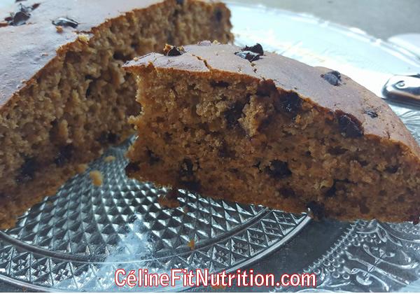 Gâteau au potiron et pépites de chocolat healthy