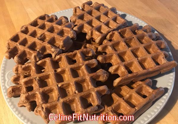 Gaufres healthy chocolat beurre de cacahuètes façon brownie