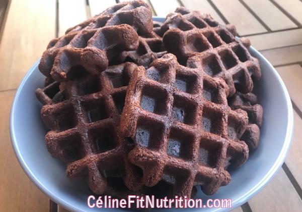 Gaufres chocolat beurre de cacahuètes