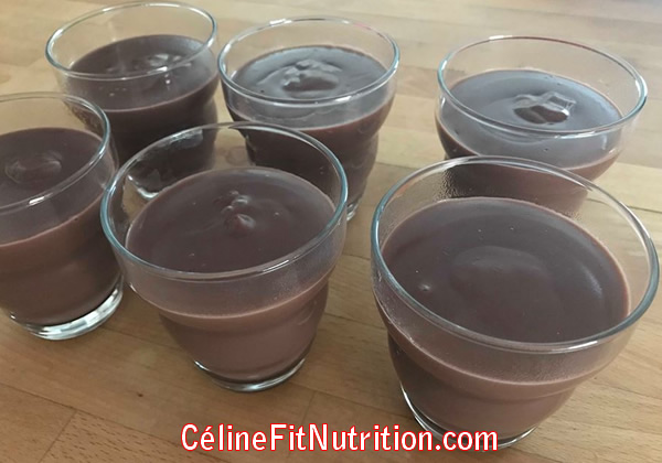 Crèmes desserts au chocolat vegan