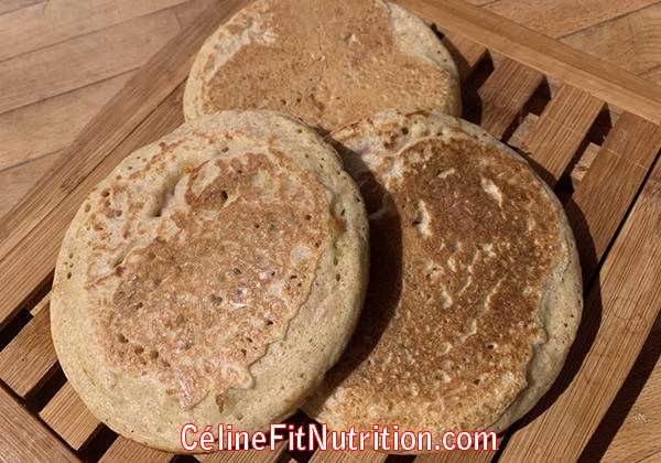 Pancakes salés healthy jambon fromage